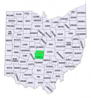 Franklin County Ohio U S Census Tiger Line Map