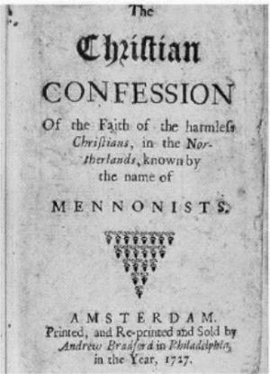 Dordrecht Confession of Faith (Mennonite, 1632) - GAMEO