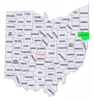 Columbiana County Ohio Usa Gameo